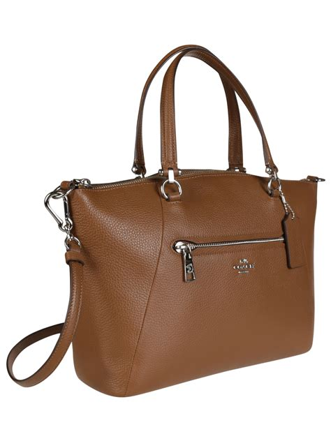 Coach Pabbled Leather Tote coach coach prairie pebble leather tote 34340 cuoio