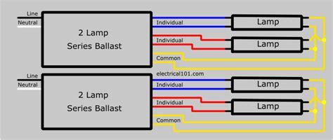 4 bulb ballast wiring diagram series ballast wiring 4 ls electrical 101
