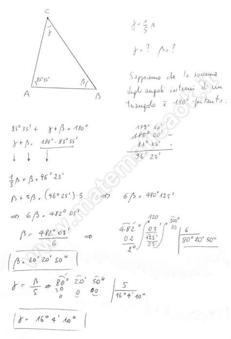angoli interni di un triangolo esercizio 67 angoli interni di un triangolo richiesto