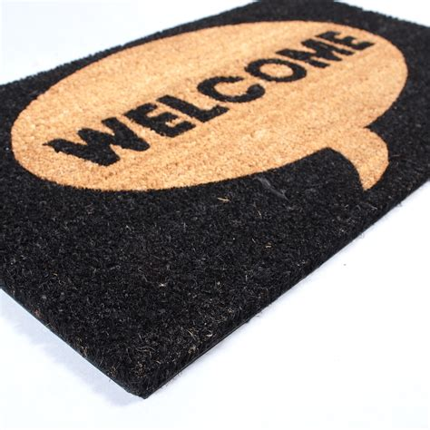 Welcome Rug by Big Door Mat Welcome Carpet Floor Coir Rug 100 Coconut