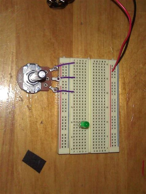 how to connect variable resistor in breadboard how to the brightness of a led 1