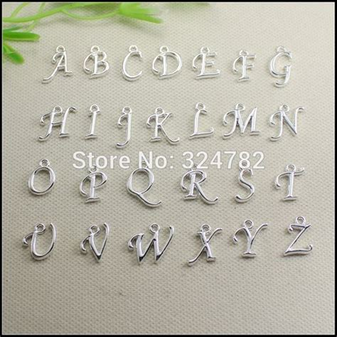 metal alphabet sts for jewelry 260pcs silver plated metal alphabet letter a z letters