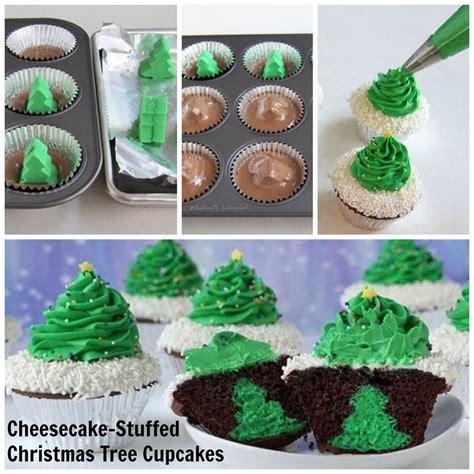 cheesecake stuffed christmas tree cupcake trusper