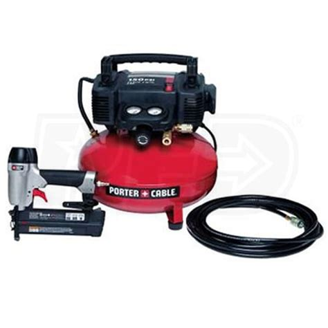 porter cable pcfp12236 6 gallon pancake air compressor w 18 brad nailer kit