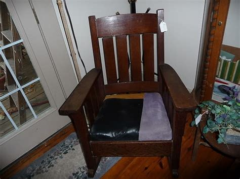 stickley mission style rocking chair antique stickley style mission oak rocker rocking chair