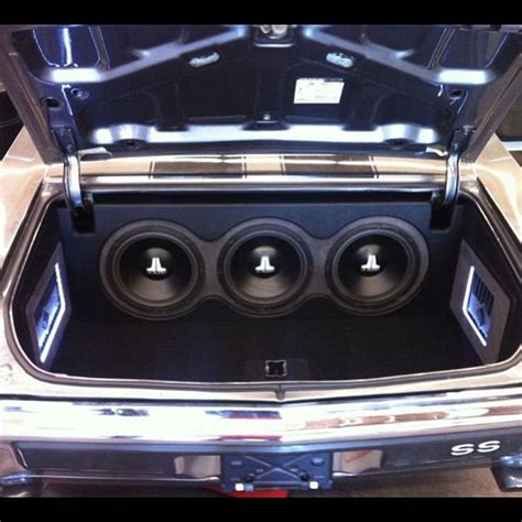 audio trunks and cars on