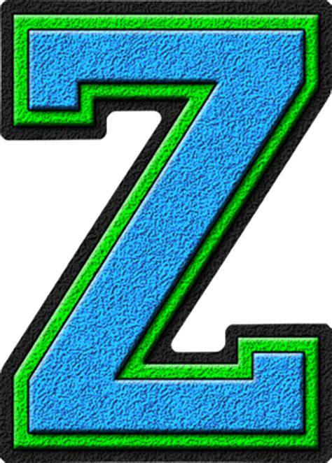 College With Letter Z Presentation Alphabets Light Blue Green Varsity Letter Z