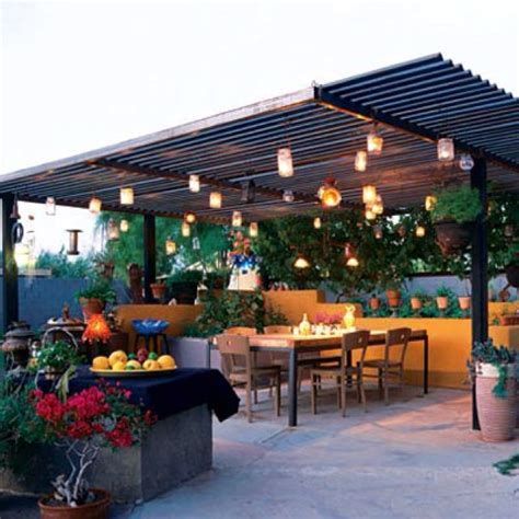 a corrugated metal roof for the patio back yard outside