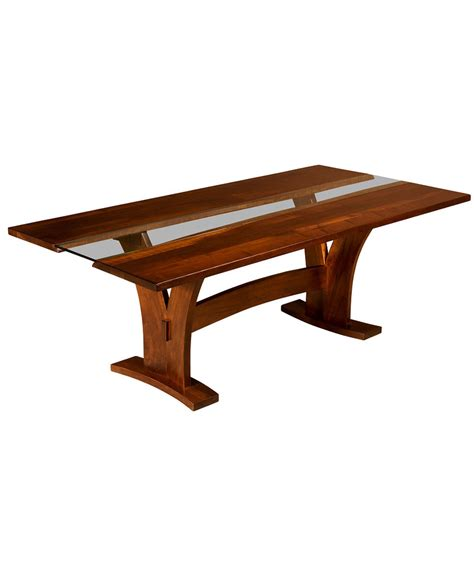 amish live edge table bellingham live edge trestle table amish direct furniture