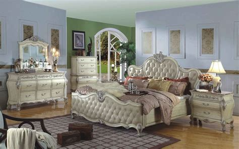 Bordeaux 5 Bedroom Set by Mfb8301 Bordeaux White Wash Solid Wood Panel Bed Solid