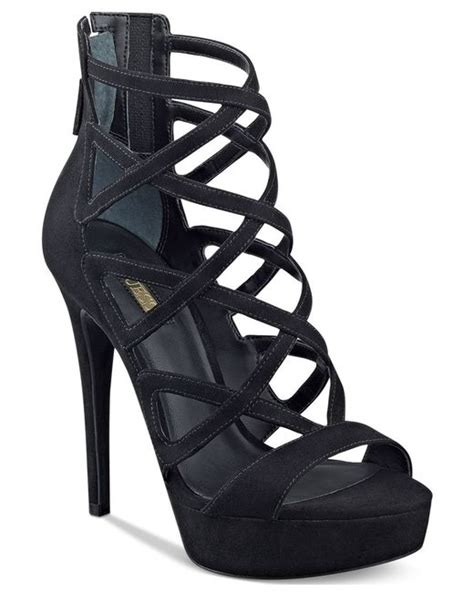 high heel cage sandals guess s kadani caged platform high heel sandals in