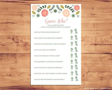 guess who bridal shower template the world s catalog of ideas