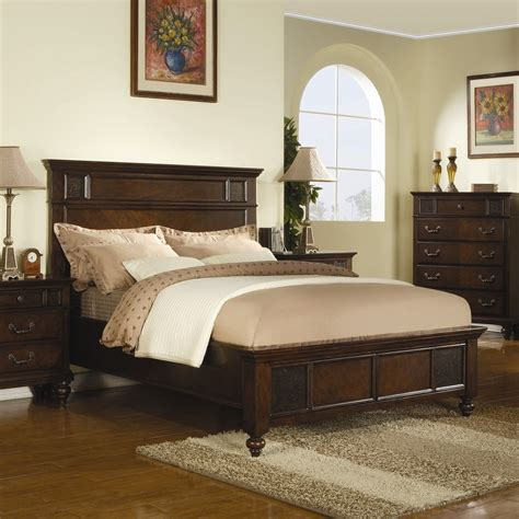 cream and wood bedroom furniture bedroom brown stained wooden queen size bed with