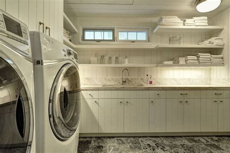 rustic laundry rooms country laundry room john hummel long floating laundry shelves country bathroom john