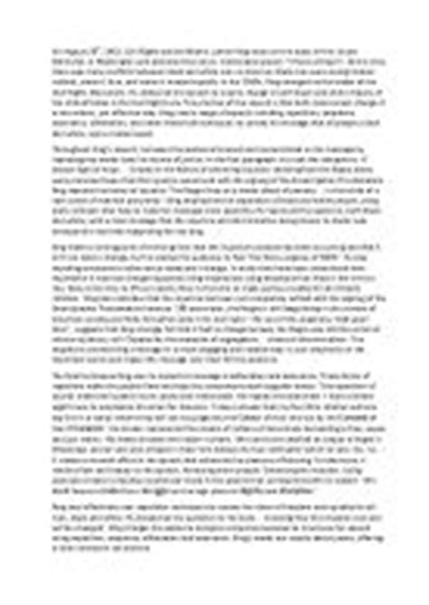 Martin Luther King I A Speech Analysis Essay by Martin Luther King Essay On His Speech Quot I A Quot Gcse Marked By Teachers