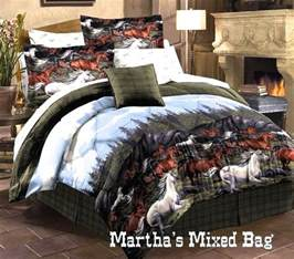 King Size Bedding With Horses Horses Pony Equestrian Plaid Comforter Set Bed In Bag King