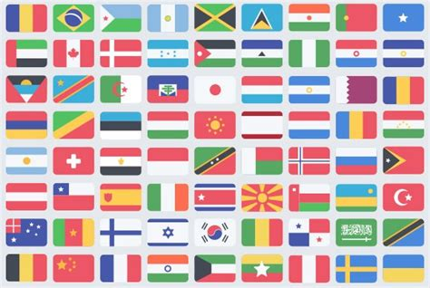flags of the world website 195 flat flag psd icons freebiesbug