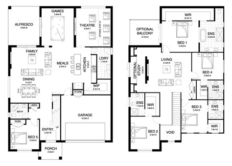 house plans nsw dynasty 42 4 double level floorplan by kurmond homes new home builders sydney
