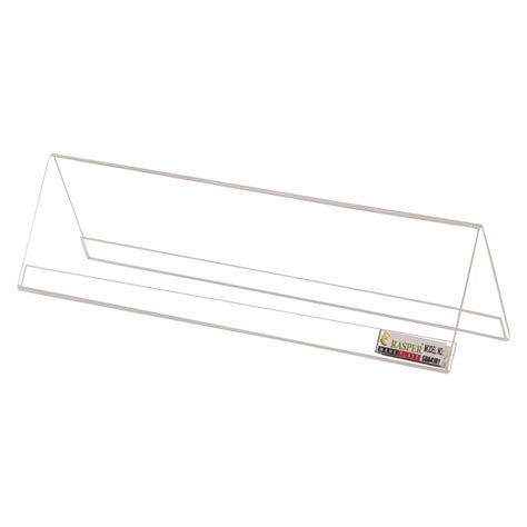 clear acrylic desk name plates rasper clear acrylic name plate desk label pack of 10