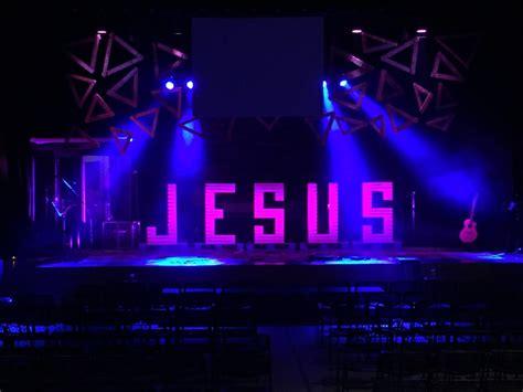 led jesus decoration jesus angles church stage design ideas