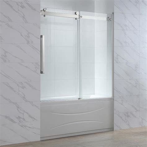 ove bathtub doors shop ove decors harvard 58 78 in w x 59 in h bathtub door