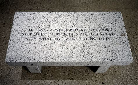 jenny holzer bench the living series it takes a while before you the broad