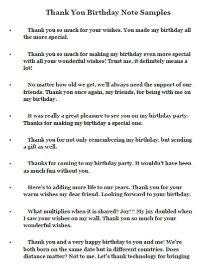 thank you notes and messages for birthday wishes