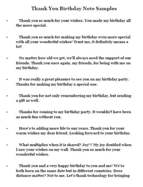 Sle Thank You Letter To Special Needs Thank You Notes And Messages For Birthday Wishes