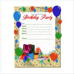 downloadable birthday invitation templates 50 microsoft invitation templates free sles