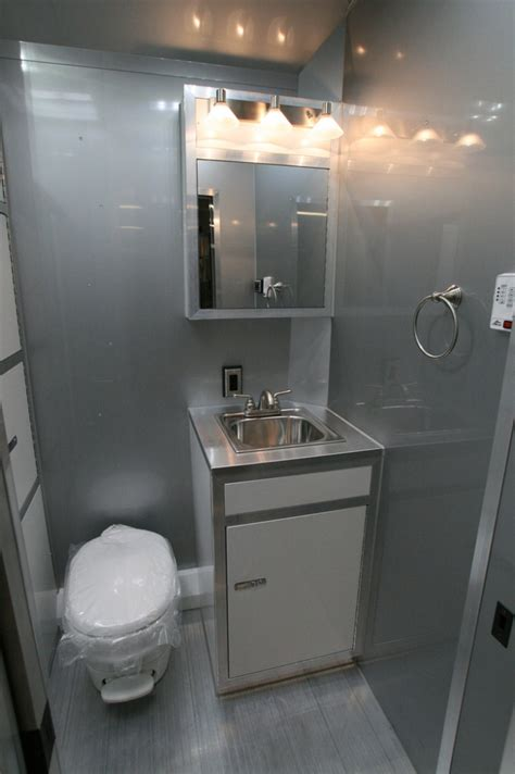 enclosed trailer bathroom 26 intech race car trailer with bathroom package rpm