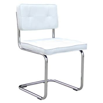 lederen witte stoelen woood eetkamerstoel ruby leer wit 2 stuks gamma be