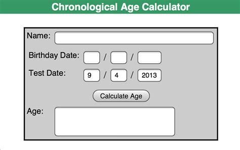 calculate age school counselor companion pearson chronological age calculator