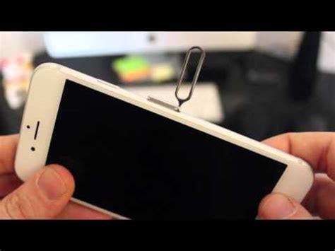 come inserire la sim in un iphone 6 e 6s