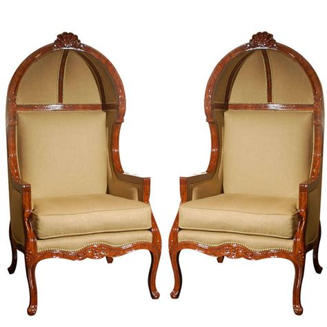 oversized armchairs a pair of oversized canopy armchairs for sale at 1stdibs