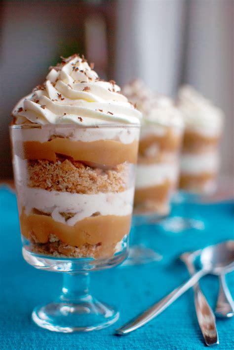 layer dessert in glass banoffee pie desserts