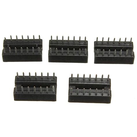 integrated circuit sockets definition 10pcs 2 54mm 14 pins ic dip integrated circuit sockets adaptor alex nld