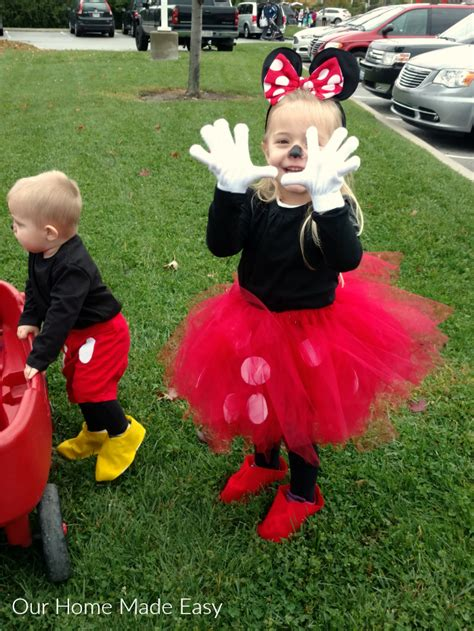 easy mickey minnie mouse halloween costumes
