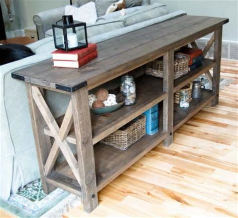 building a sofa table 187 download plans rustic tv stand pdf plans wine rack