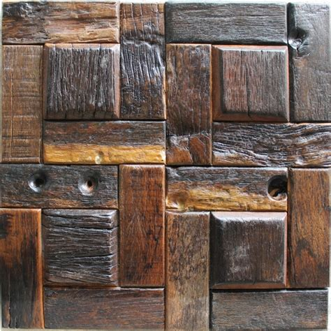 decorative wall tile wood decorative tile random pattern rustic wood