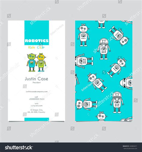 html character card template robot character educational flat icon