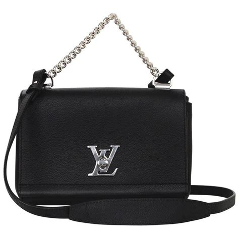 Restock Lv Tote Mini 2in1 1 louis vuitton 2016 black leather lockme ii bb crossbody bag at 1stdibs