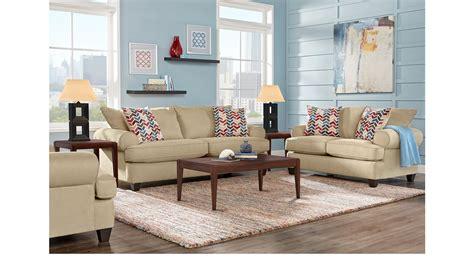 7 Pc Living Room Set 1 138 00 Park Square Sand Beige 7 Pc Living Room Classic Contemporary Textured