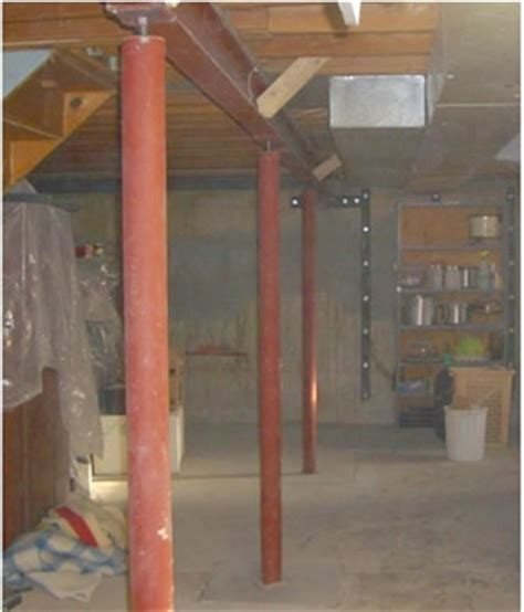 basement support posts water problems all types concrete repair