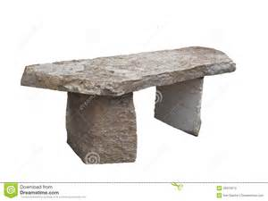 Rustic Wooden Benches Outdoor Rustic Stone Slab Bench Isolated Stock Images Image