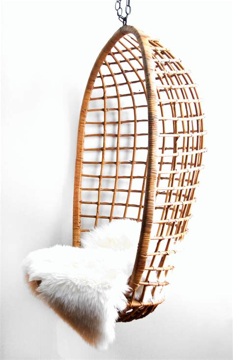 hanging wicker chair vintage hanging rattan egg chair by lacklusterco on etsy