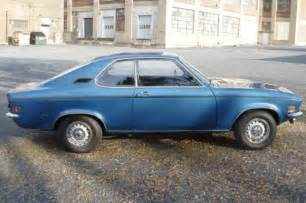 Opel Manta For Sale Usa 1972 Opel Manta Rallye Sport 4 Speed Bring A Trailer