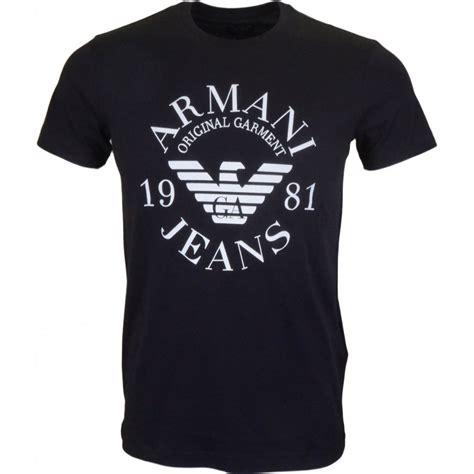 Armani T Shirt armani 06h99 slim fit black t shirt armani