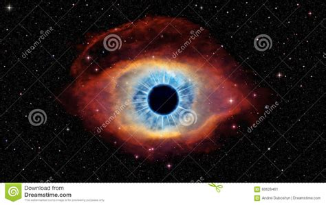 imagenes del ojo de dios ojo de dios en h 233 lice de la nebulosa stock de ilustraci 243 n