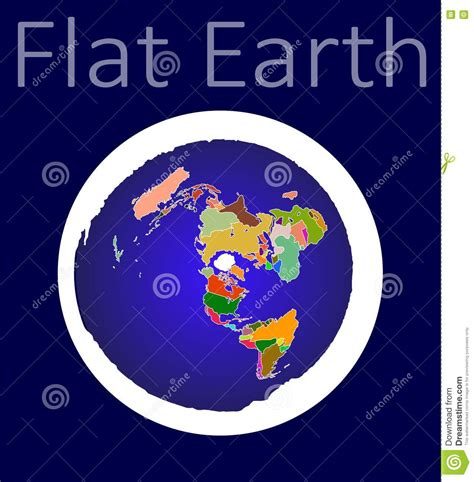 flat earth map stock vector image 76007862