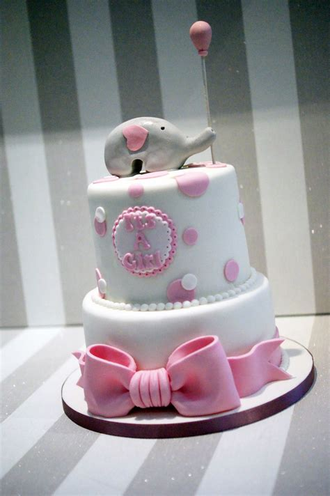 Baby Shower 2 Tier Cakes by 2 Tier Elephant Baby Shower Cake Bakealous